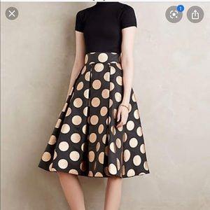 Anthropologie Moulinette Soeurs polka dot skirt